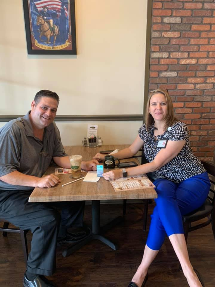 Steve Gasowski and Karen DeVinney at Boston Coffee