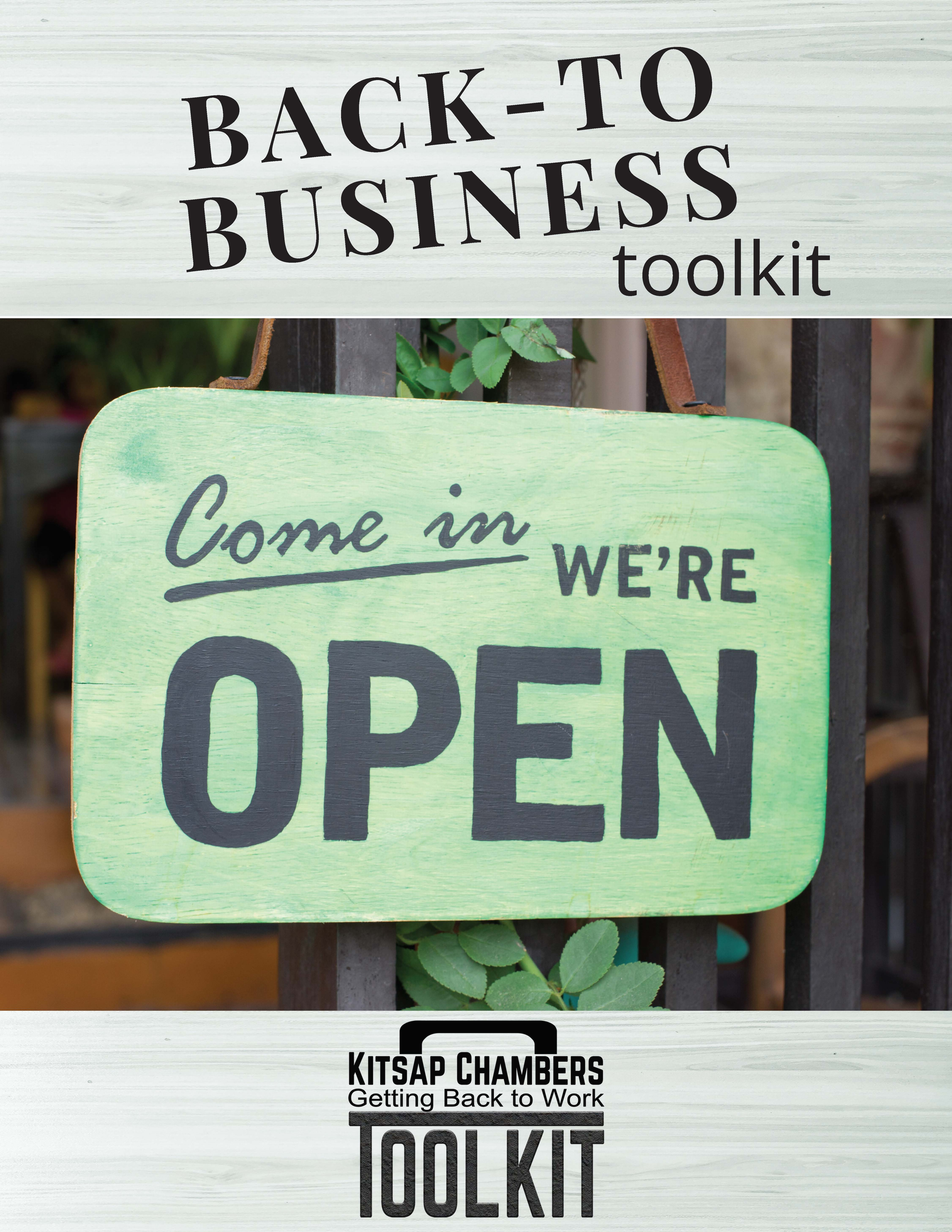 Kitsap Small Business Response Fund Back to Business Tool Kit