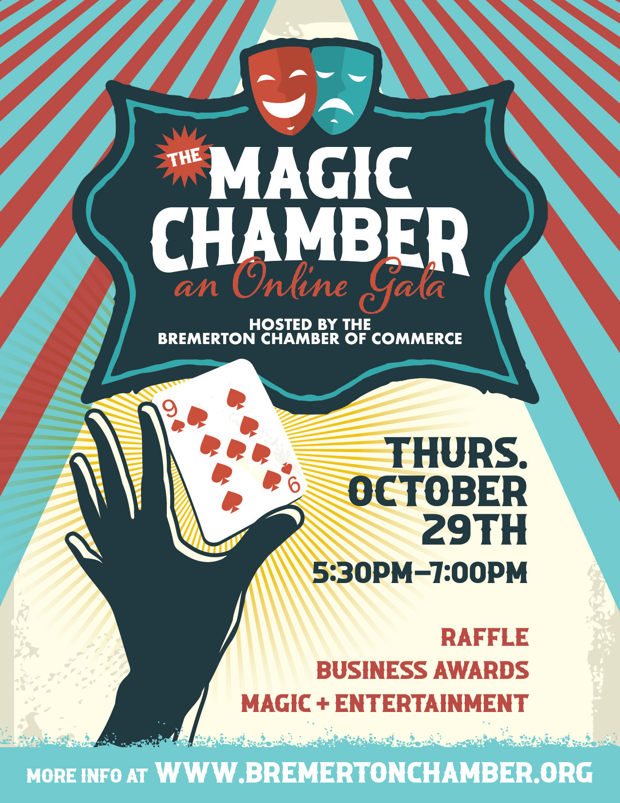 Chamber Magic Flyer, Bremerton Chamber of Commerce 2020 Gala