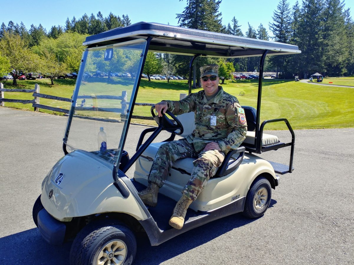 """Here's to Our Heroes!"" Golf Tournament on Friday, May 7, 2021. We all have certainly learned about heroes in our community during this pandemic! Bremerton Chamber of Commerce will be celebrating some of our local heroes at our ""Here's to Our Heroes!"" Golf Tournament on Friday, May 7, 2021. Held on the beautiful Olympic Course at Gold Mountain Golf Complex in Bremerton, Washington, this tournament will attract golfers who are active-duty military and first-responders (police, fire, hospital)** as well as all of us who support them! Heroes receive a $50 discount on registration!** CLICK HERE TO REGISTER Entry fee includes 18 holes of golf on the fabulous Olympic Course, delicious hot box lunch and beverage and 5 free raffle tickets. Bremerton Chamber of Commerce members will receive $10 their entry fee. Morning and afternoon tee times available. Format will be split tee starts with the choice of a.m. or p.m. tee times and may change depending on current COVID-related guidelines.* *Logistics of the day will be dependent on current COVID-related guidelines. **Reduced registration fees for active duty military and first responders only. Golf Tournament Registration Entry fees include 18 holes of golf on the fabulous Olympic Course, delicious hot box-lunch and beverage, and 5 free raffle tickets. Bremerton Chamber of Commerce members will receive $10 off their entry fee. Individual Registrations: CLICK HERE TO REGISTER $75 Hero (Must be active-duty military, police, fire or hospital employee) $125 Supporter (everyone else!) Foursome Registrations: CLICK HERE TO REGISTER $300 Hero Foursome (Must be active-duty military, police, fire or hospital employees) $500 Supporter Foursome (everyone else!) Tournament Sponsorships: CLICK HERE TO SPONSOR Tee Box Sponsors: $250 Closest to Pin Competition Sponsor: $500 Cart Sponsor: $500 (your signage on ALL carts ALL day!) Lunch Sponsor: $500 (Sponsor Table at lunch with your signage displayed prominently on all box lunch containers)"