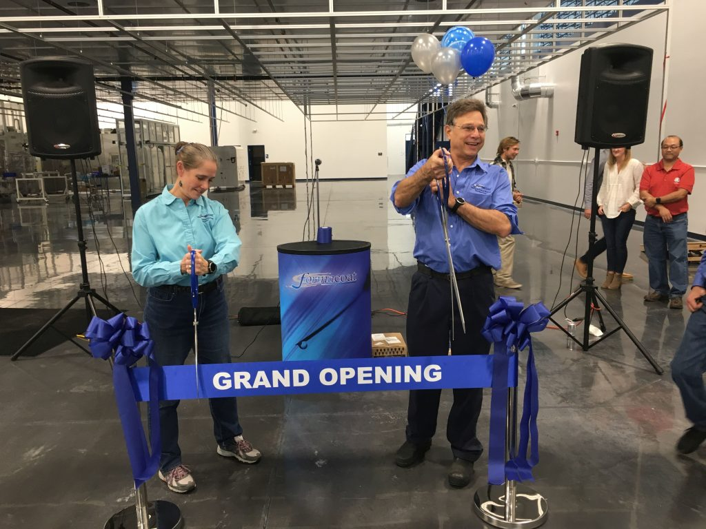 Formacoat Ribbon Cutting