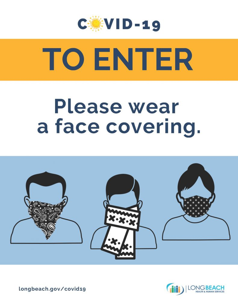 To Enter Wear Face Mask