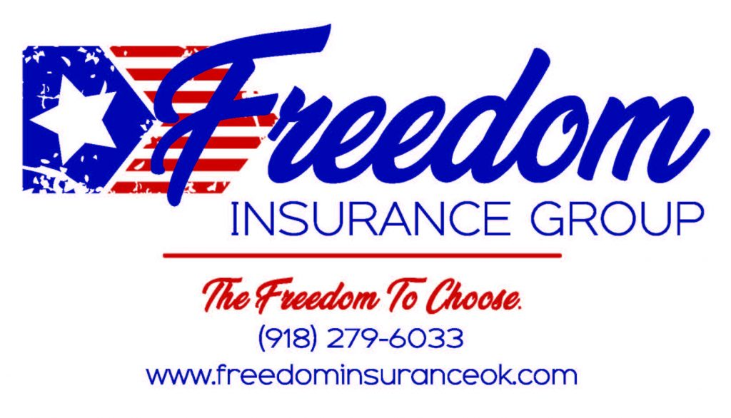 Freedom Insurance contact info Logo with Phone and web