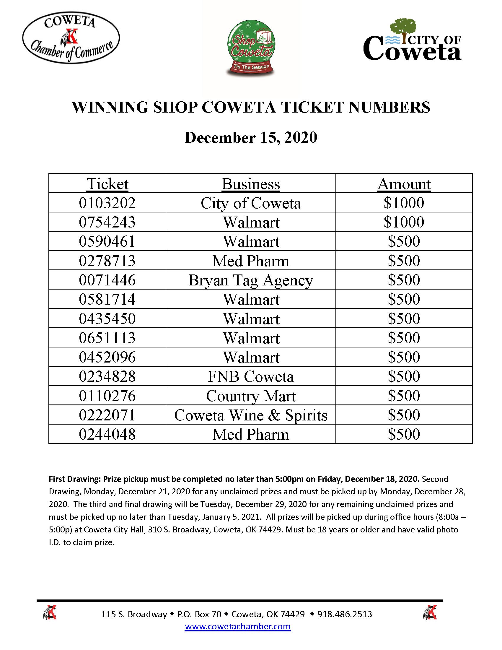 Shop Coweta 1st Round