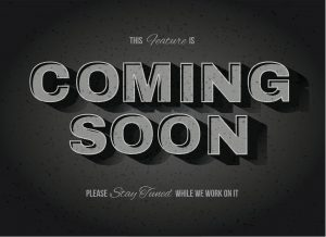 Vintage movie or retro cinema text effect coming soon sign