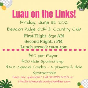 Luau on the links info pic