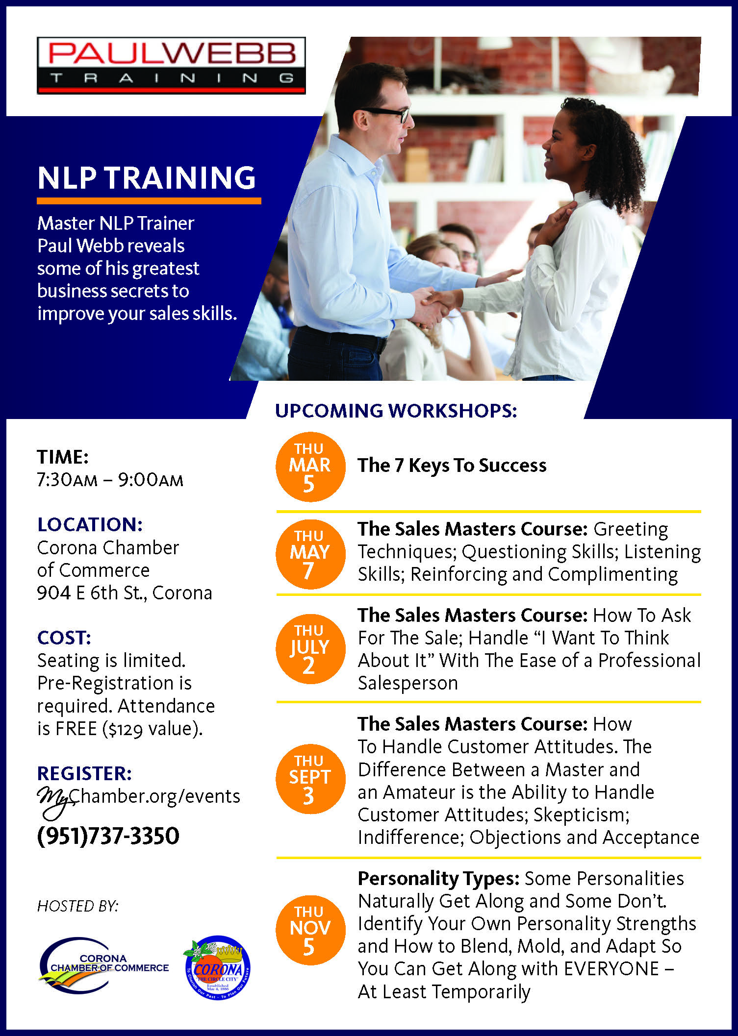 Paul Webb seminars, NLP Series Ad for CBN