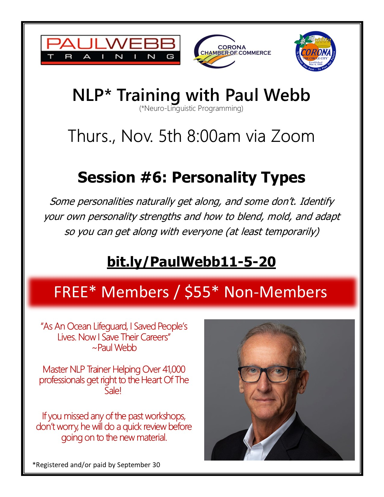 NLP Personality Types Workshop 11-5-20