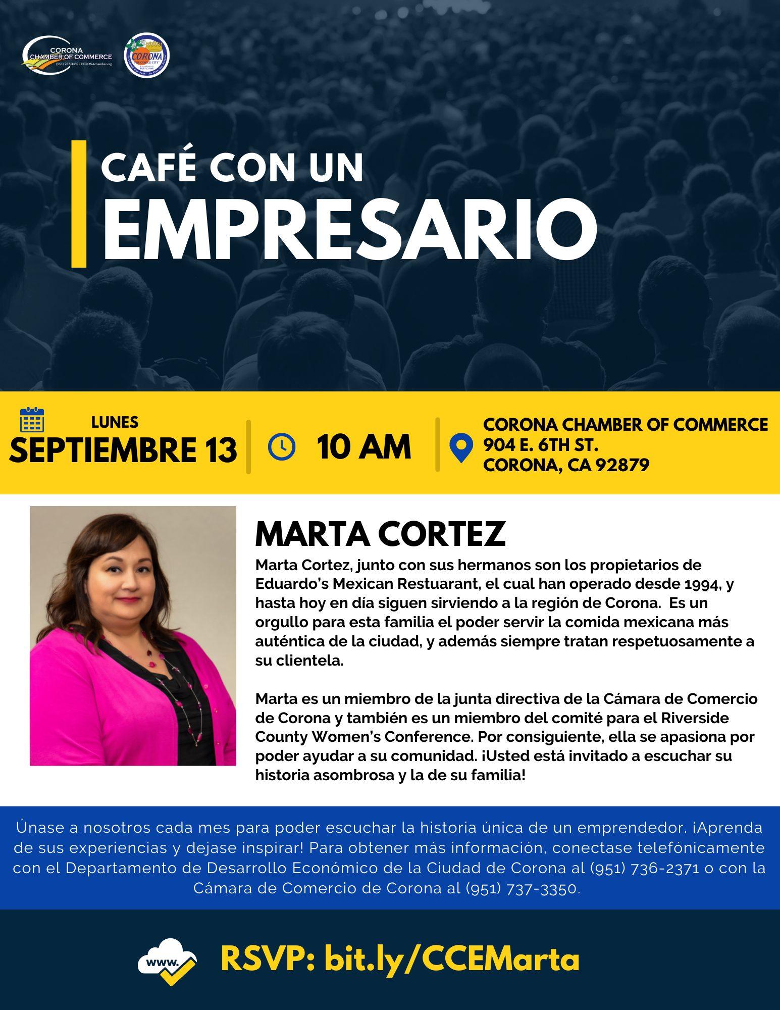 Marta Spanish flyer