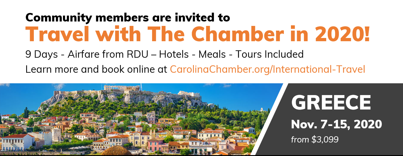 Community members are invited to Travel with the Chamber in 2020.