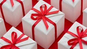 white red present