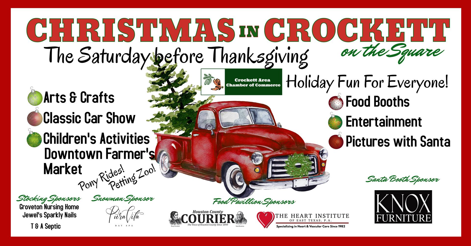 Christmas in Crockett Banner