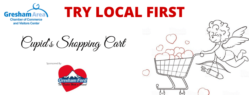 Try Local First Cupid's Shopping Cart