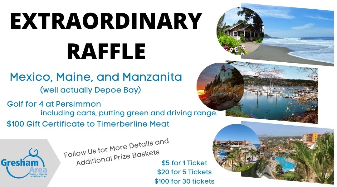 2020 Gresham Chamber Golf Tournament Raffle