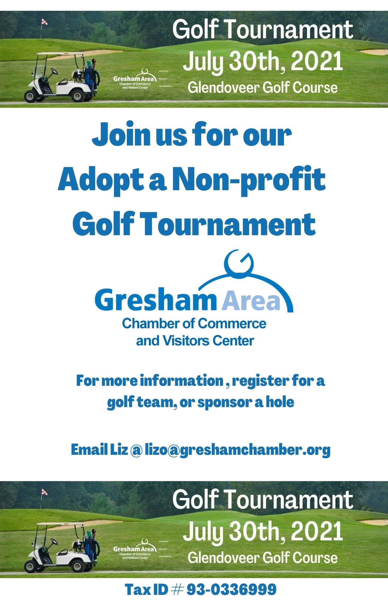 2021 Gresham Area Chamber Golf Tournament Raffle