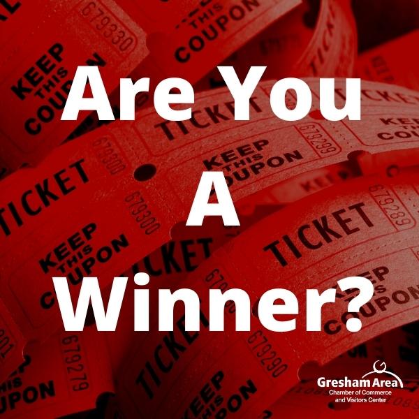 2021 Gresham Area Golf Raffle Ticket Winners