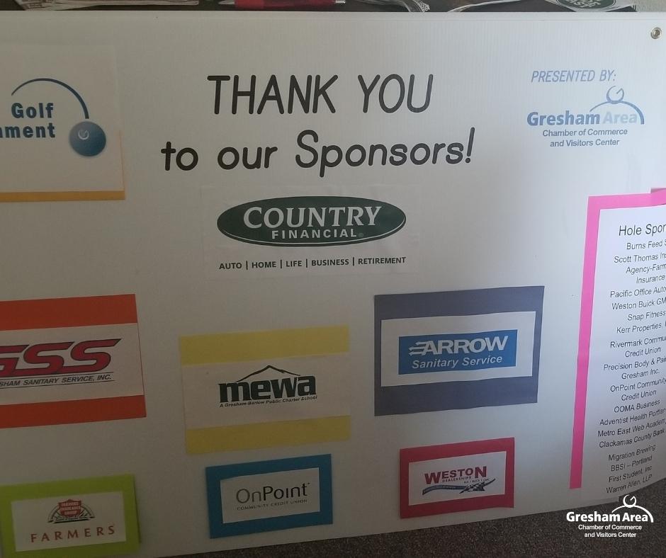 2021 Gresham Area Chamber of Commerce Golf Tournament Sponsors