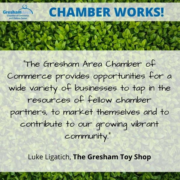 The Gresham Toy Shop Testimonial for the Gresham Area Chamber