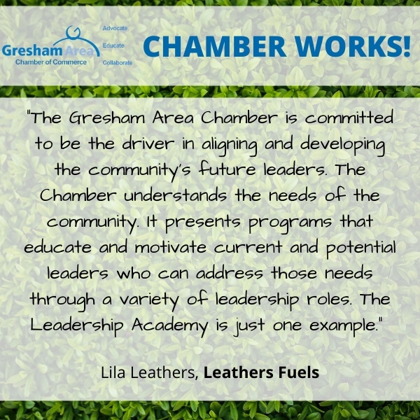 Leathers Fuels Testimonial for the Gresham Area Chamber