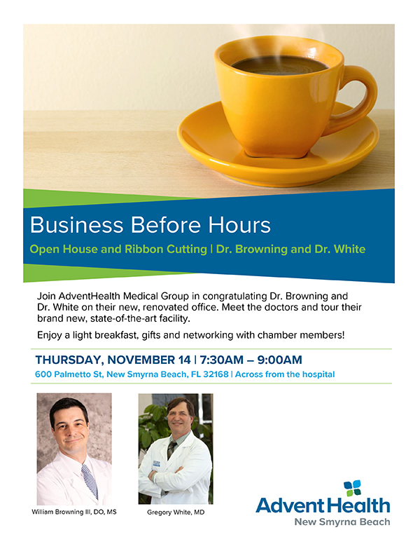 AdventHealth Business Before Hours Flyer