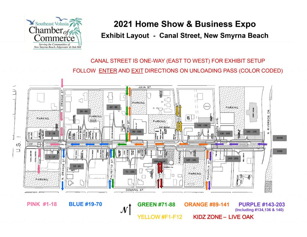 2021 SEV Chamber Home Show Map