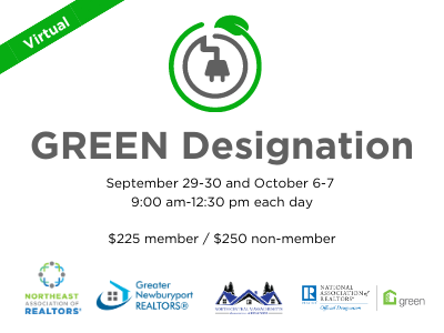 GREEN Designation Information: Sept 29 - 30, Oct 6-7. $225 members/$250 non-members