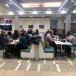 attendees participating in speed networking