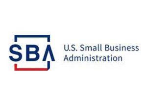 blue and red US Small Business Administration logo