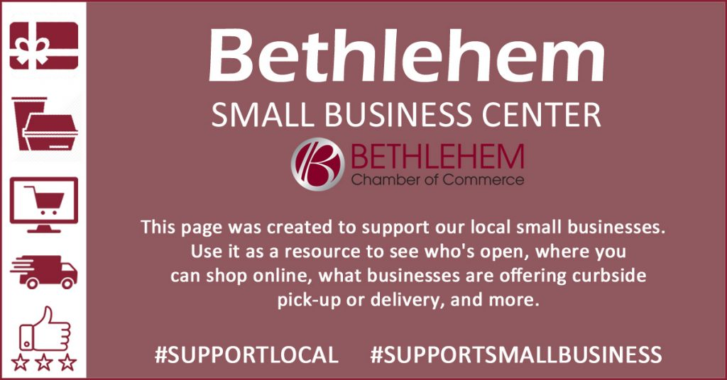 Bethlehem Small Business Center website graphic with outline