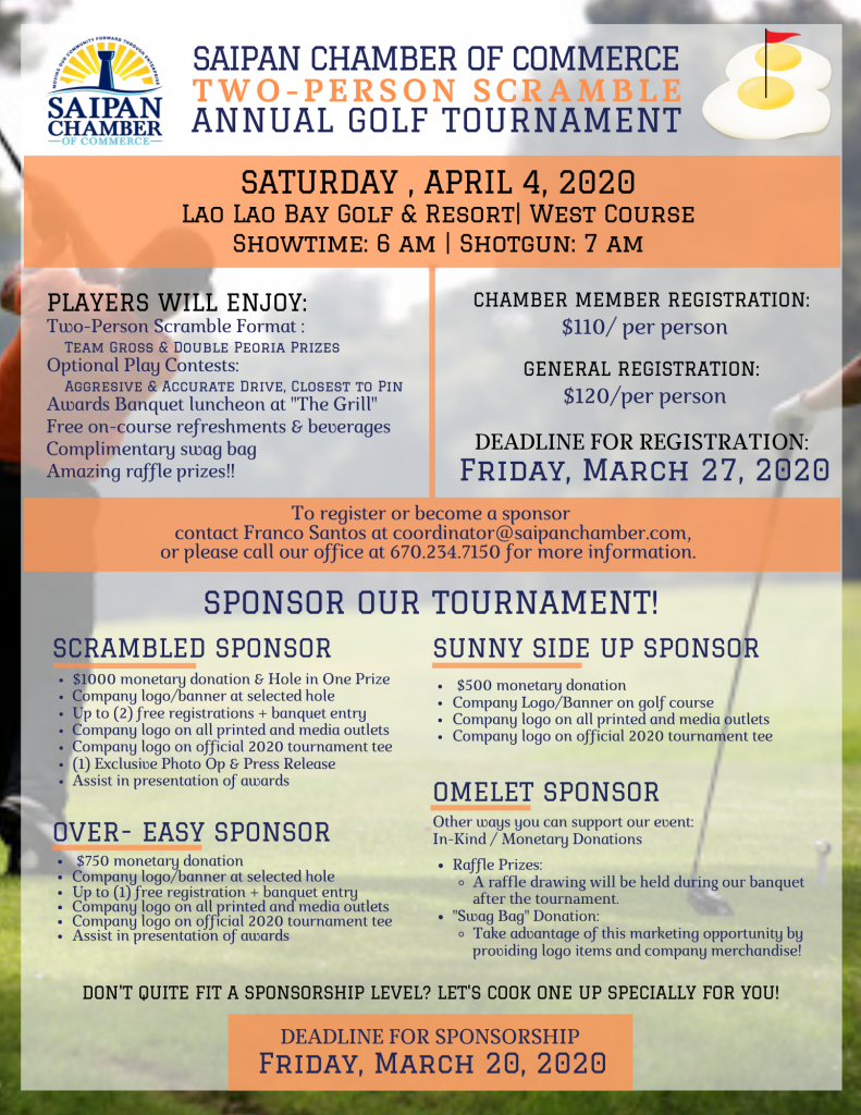 GOLF TOURNAMENT 2020 SPONSORS