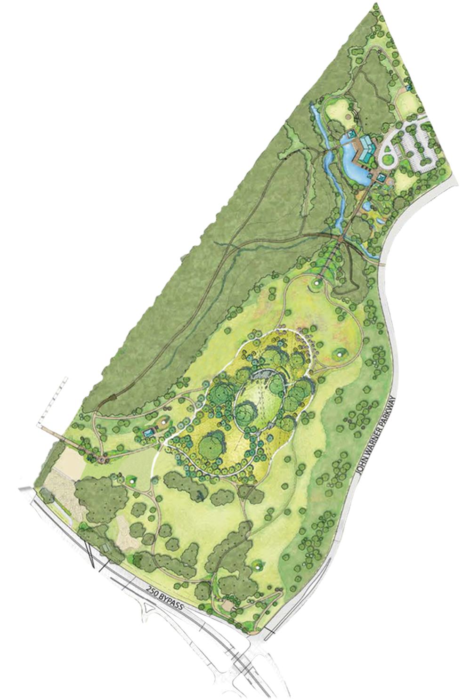 McIntire Park schematic plan