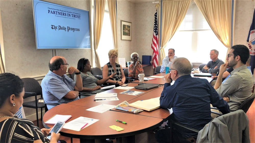Public Policy Committee discusses how to recruit a diverse steering committee, October 2019