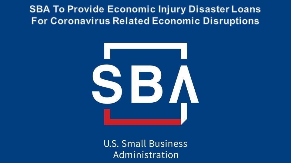 SBA disaster loans coronavirus