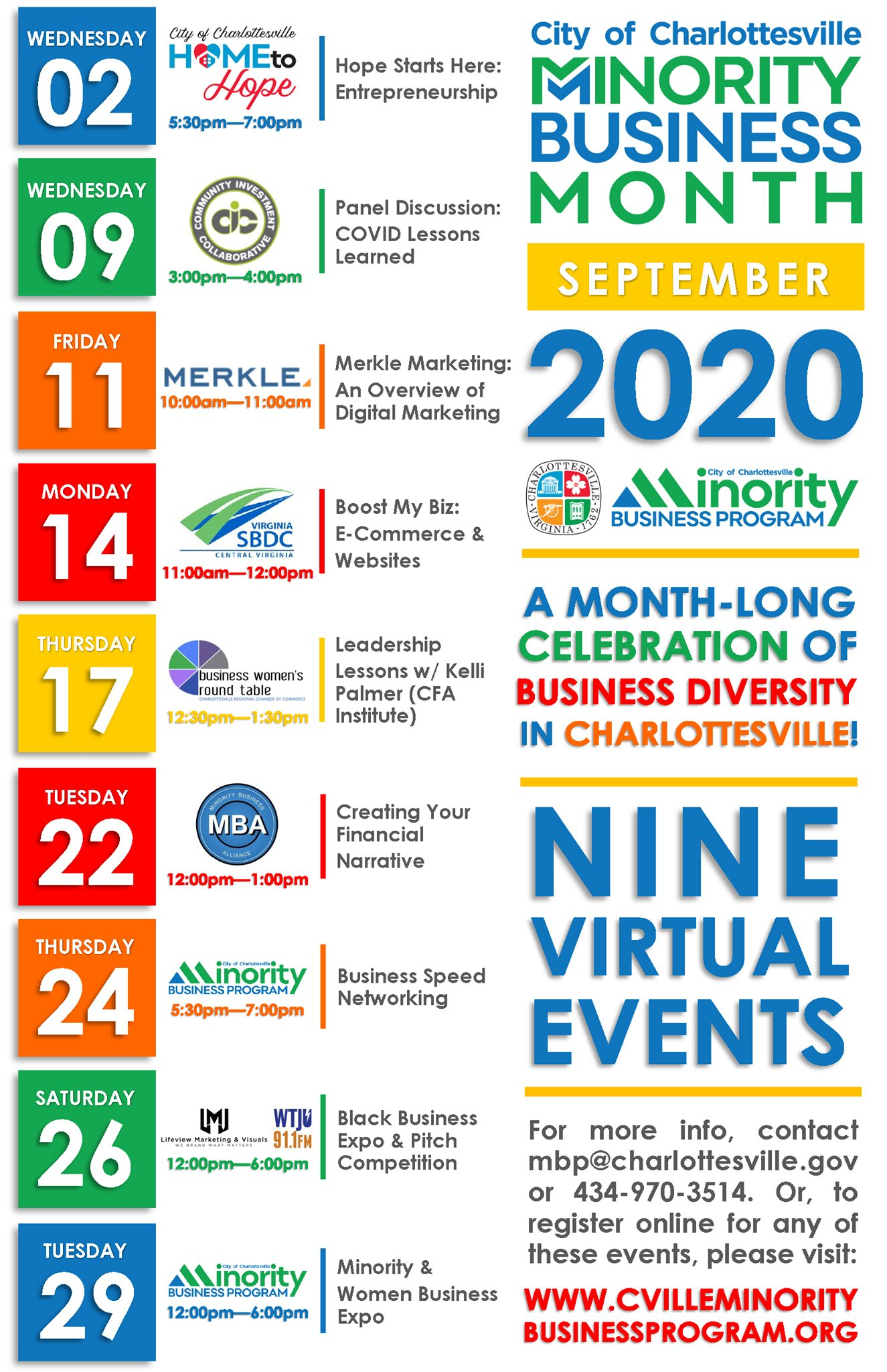 Minority Business Month update