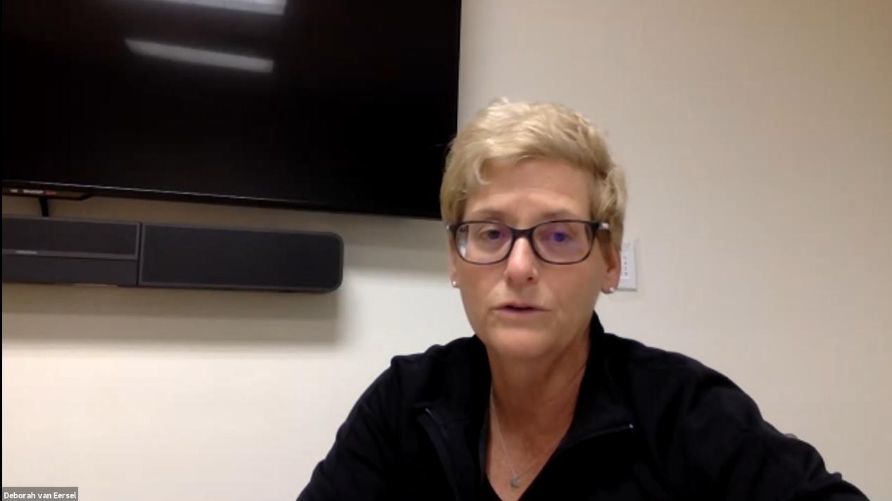DAC Chair Deborah van Eersel of UVA Foundation leads the September meeting