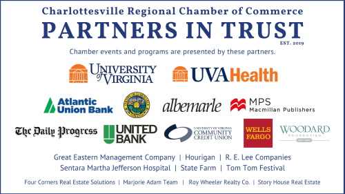 Chamber events and programs are presented by our Partners in Trust.
