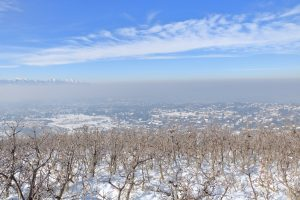 Wintertime inversion in the Salt Lake Valley in Utah