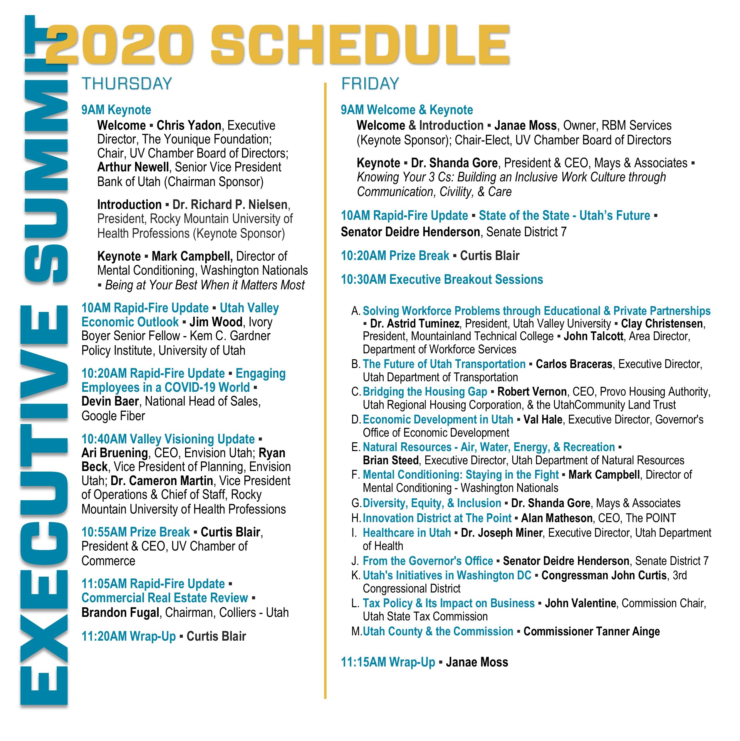 Executive Summit - Event Program