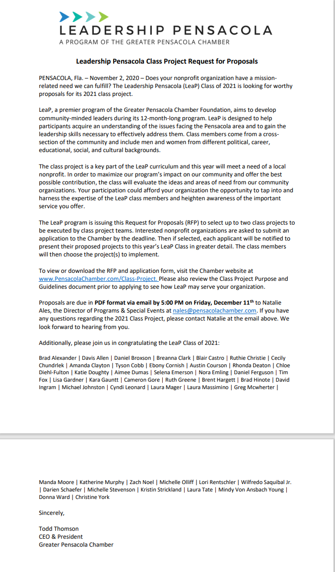 leap 2021 press release