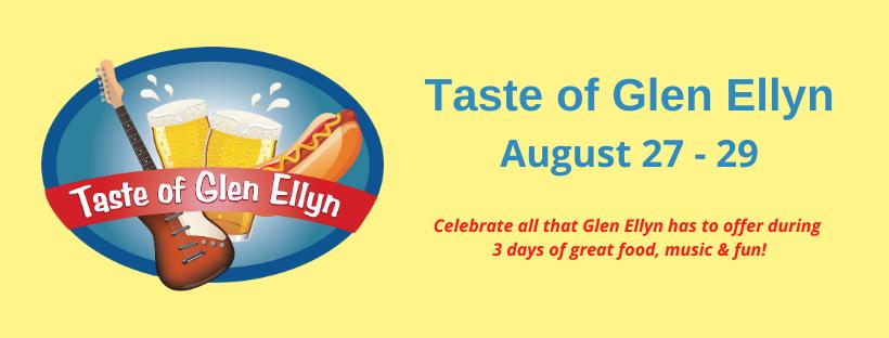 Taste of Glen Ellyn banner new date