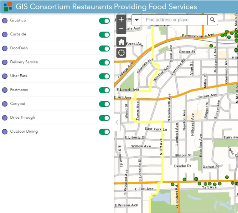View Restaurant Interactive Map (Outdoor Dining, Carryout & More)
