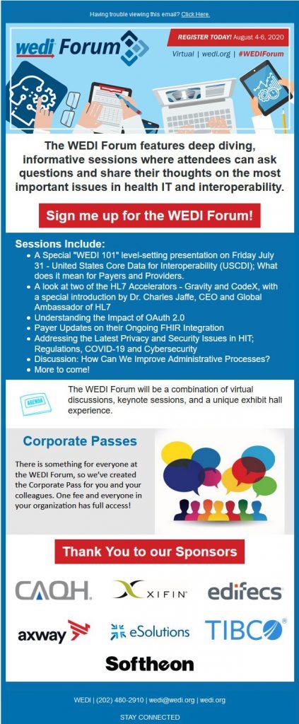 WEDI-Forum-Email