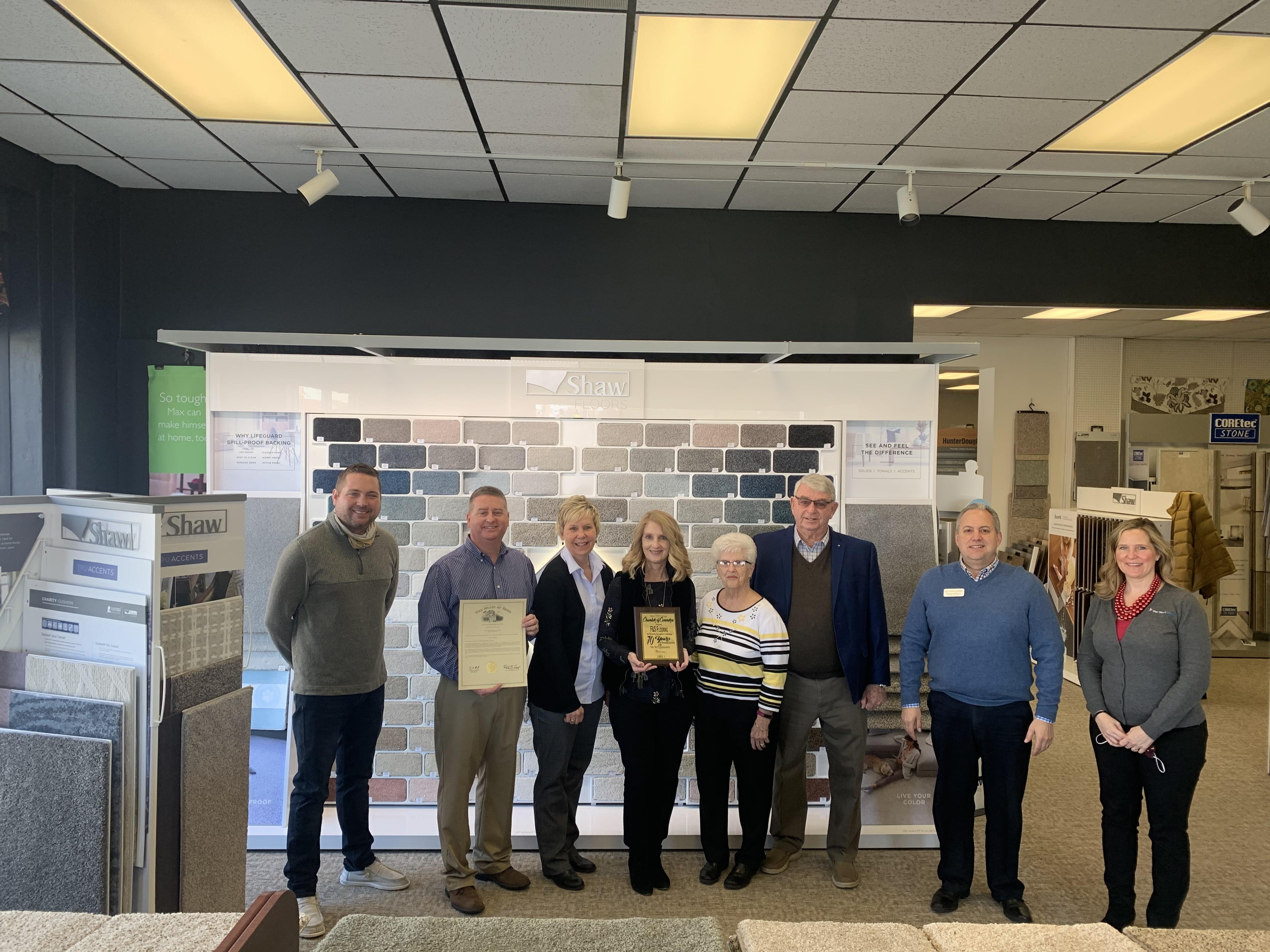 F & S Flooring: 70 Years Milestone Award