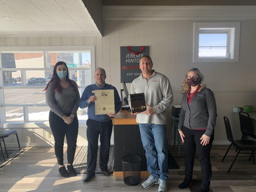 Jeremy Hinton State Farm: Golden Shovel Award