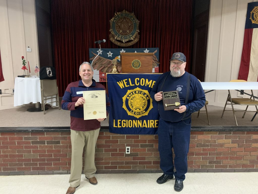 Van Wert American Legion Post #178: Golden Shovel Award