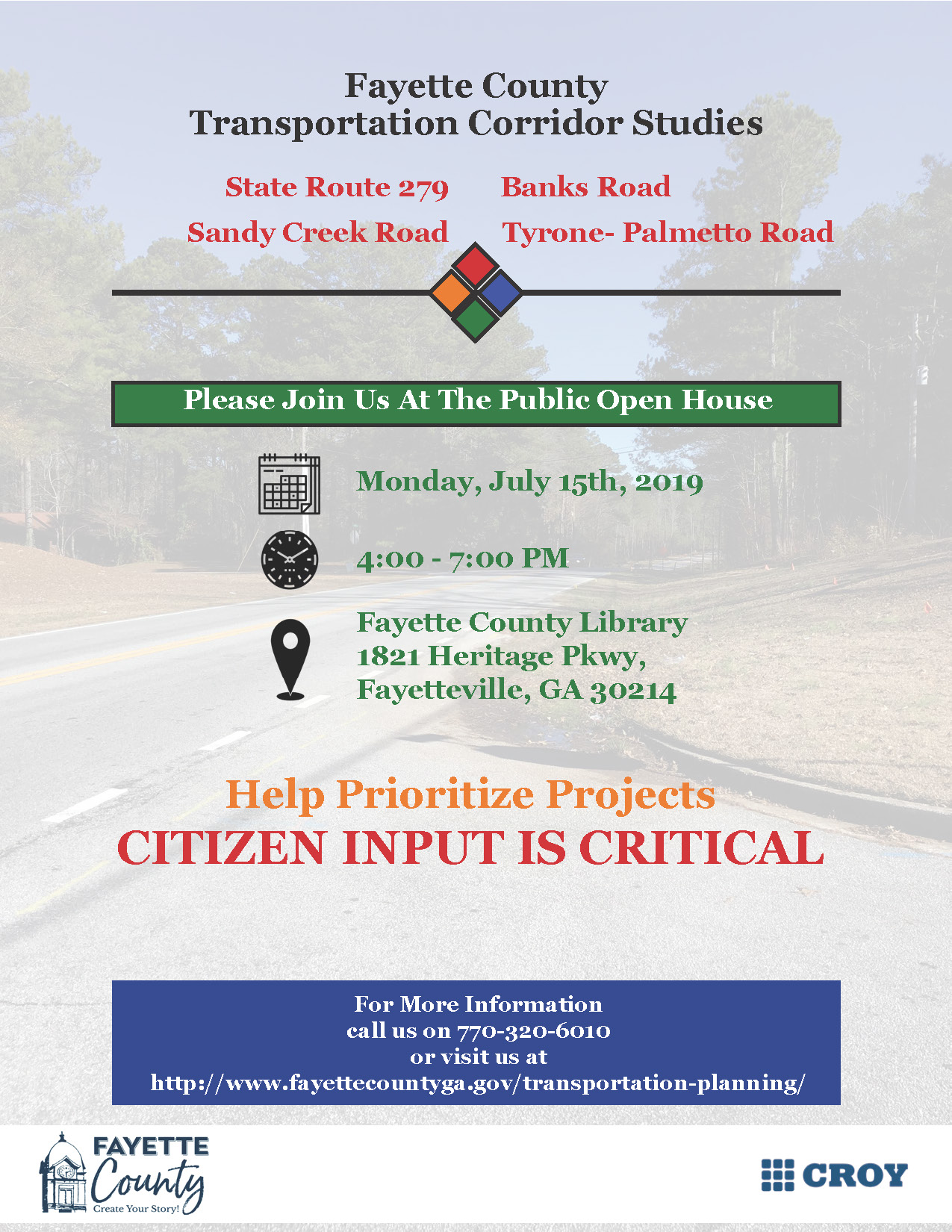 2019 Fayette County Corridor Study