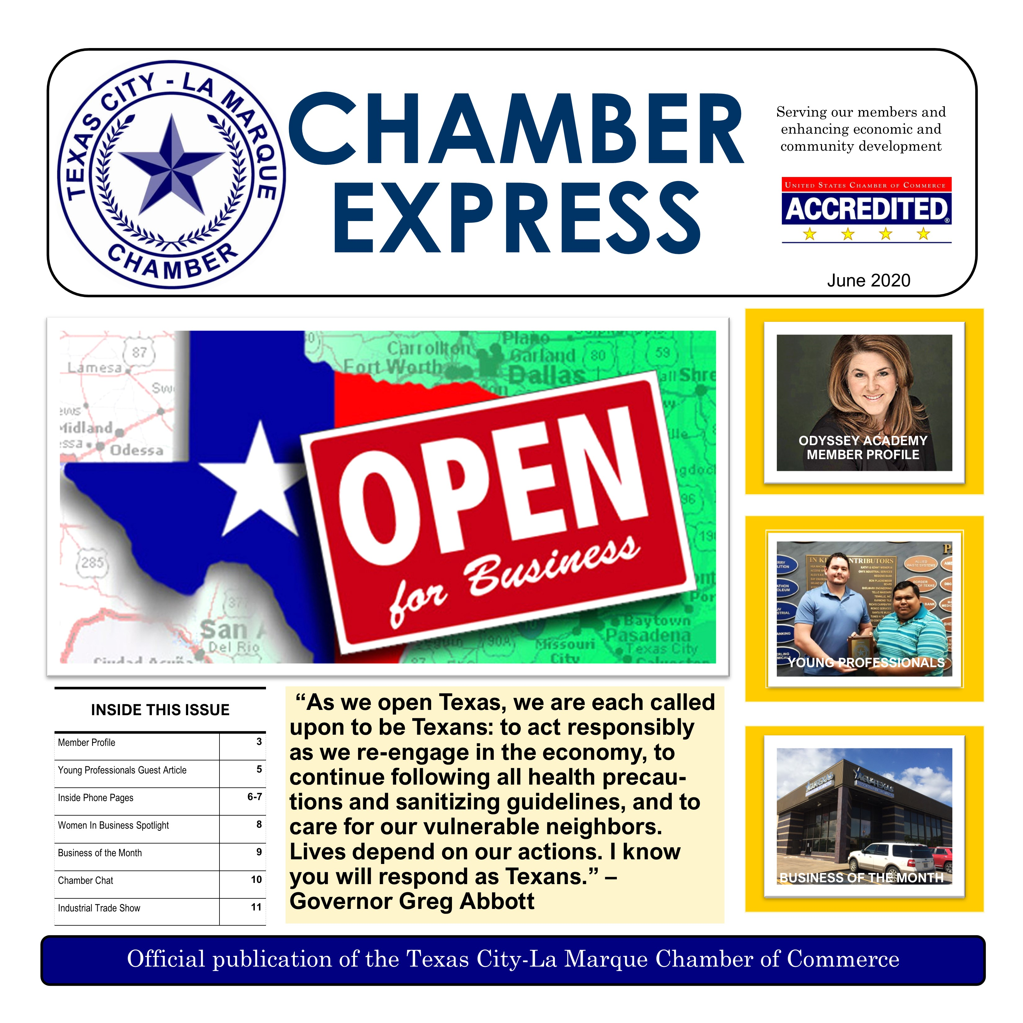ChamberExpress newsletter June 2020 Front page