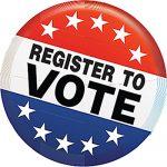 voter registration button square