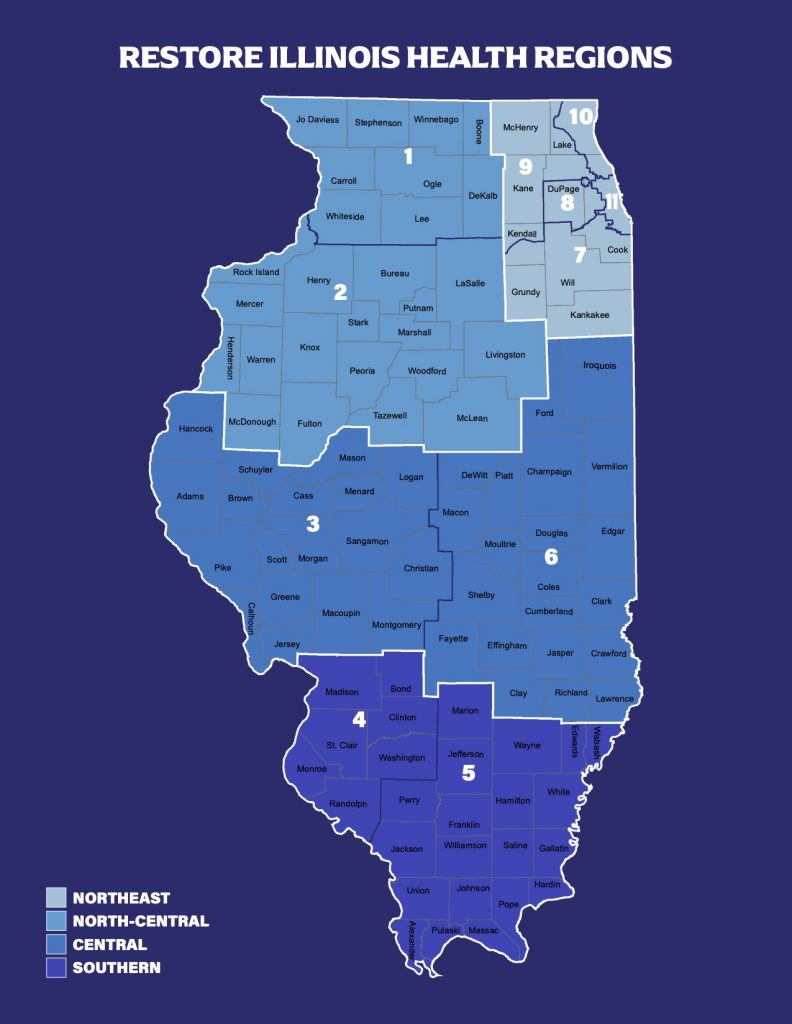 Restore Illinois Health Regions