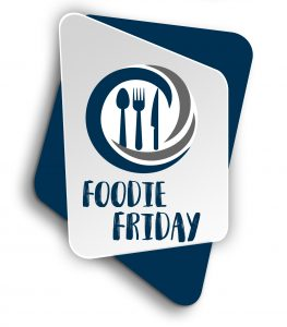 Foodie Logo with background